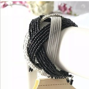 Jewelry - ** FREE with $25 Purchase** Black Silver Bracelet